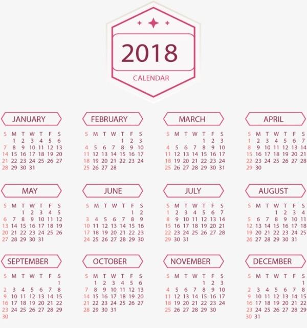 2018-printable-calendars-70 87+ Fascinating Printable Calendar Templates