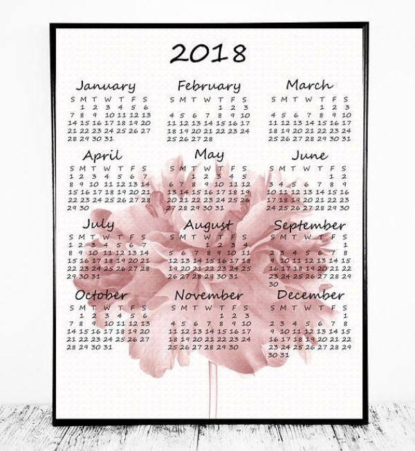 2018-printable-calendars-71 87+ Fascinating Printable Calendar Templates
