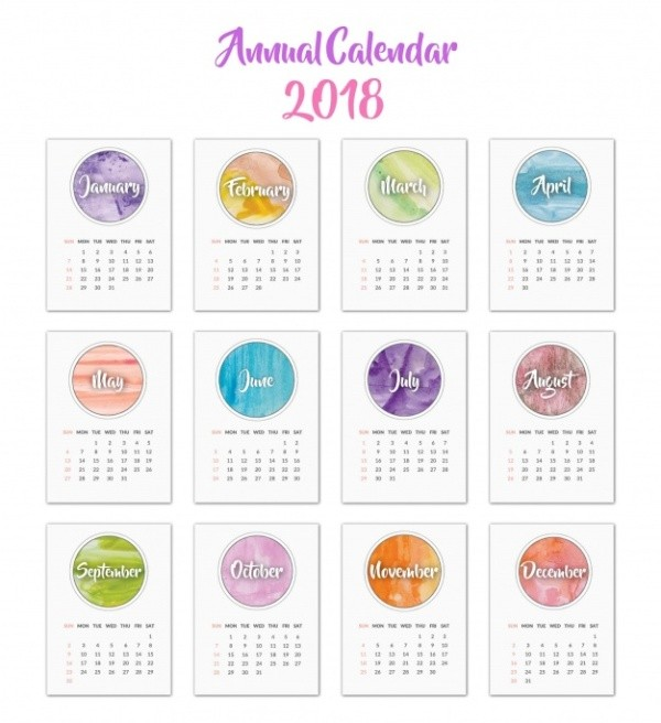 2018-printable-calendars-73 87+ Fascinating Printable Calendar Templates