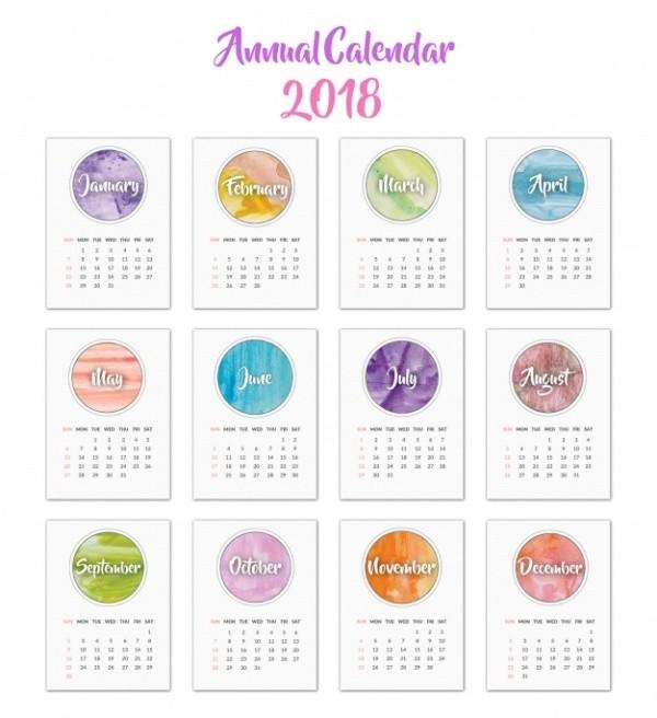 2018-printable-calendars-73 87+ Fascinating Printable Calendar Templates