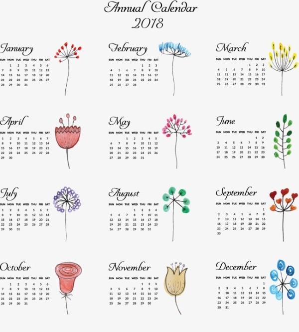 2018-printable-calendars-75 87+ Fascinating Printable Calendar Templates
