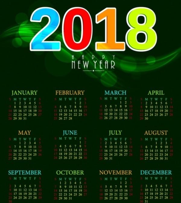 2018-printable-calendars-77 87+ Fascinating 2018 Printable Calendar Templates