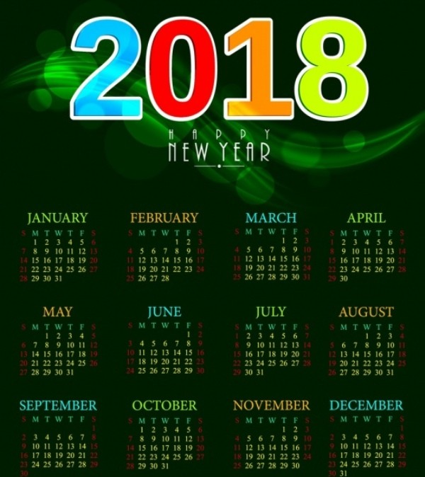 2018-printable-calendars-77 87+ Fascinating Printable Calendar Templates