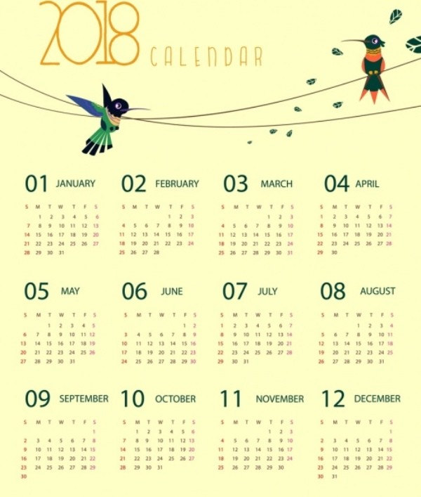 2018-printable-calendars-78 87+ Fascinating Printable Calendar Templates
