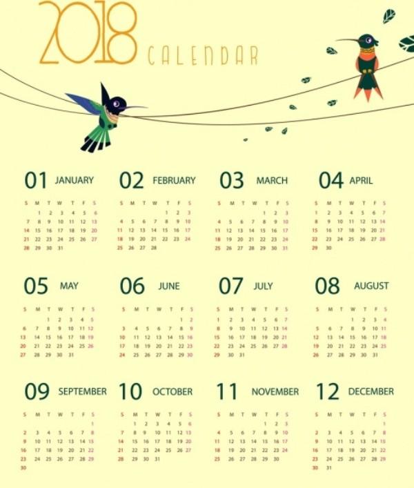 2018-printable-calendars-78 87+ Fascinating 2018 Printable Calendar Templates