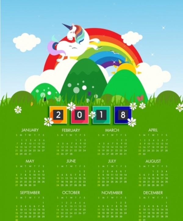 2018-printable-calendars-80 87+ Fascinating Printable Calendar Templates