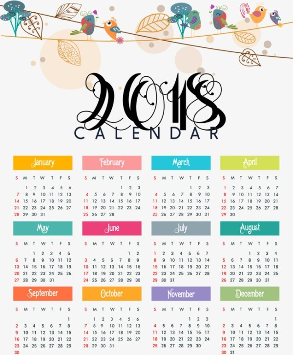 2018-printable-calendars-81 87+ Fascinating Printable Calendar Templates