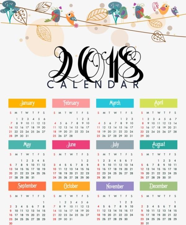 2018-printable-calendars-81 87+ Fascinating Printable Calendar Templates