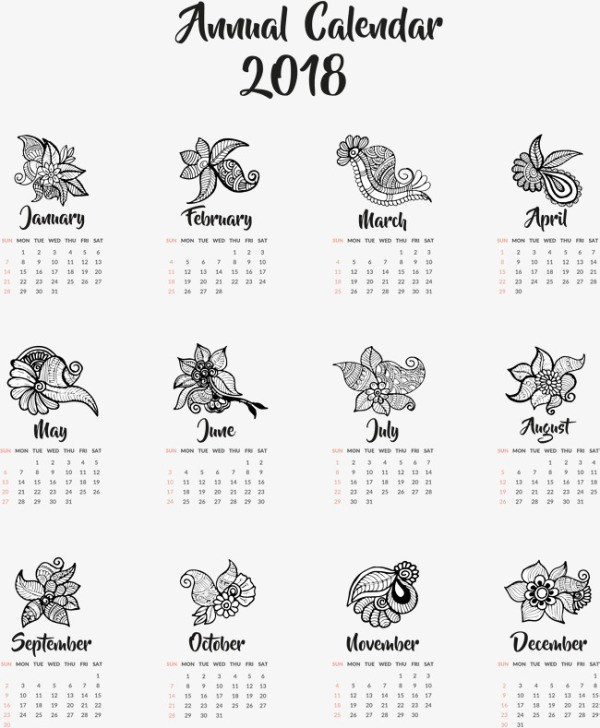 2018-printable-calendars-82 87+ Fascinating Printable Calendar Templates