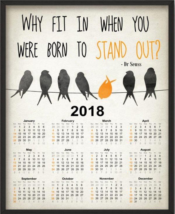 2018-printable-calendars-83 87+ Fascinating Printable Calendar Templates