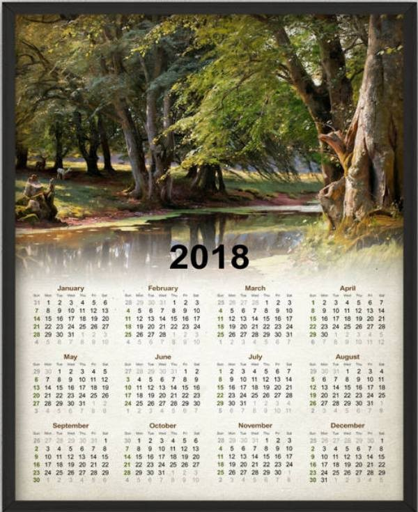2018-printable-calendars-84 87+ Fascinating Printable Calendar Templates