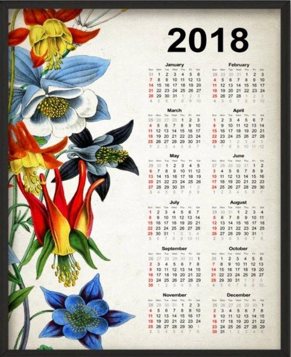 2018-printable-calendars-85 87+ Fascinating Printable Calendar Templates
