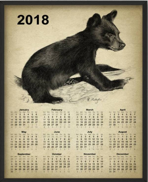 2018-printable-calendars-87 87+ Fascinating Printable Calendar Templates