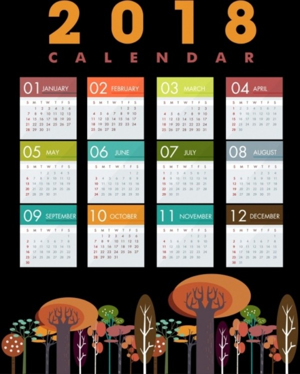 2018-printable-calendars-89 87+ Fascinating Printable Calendar Templates