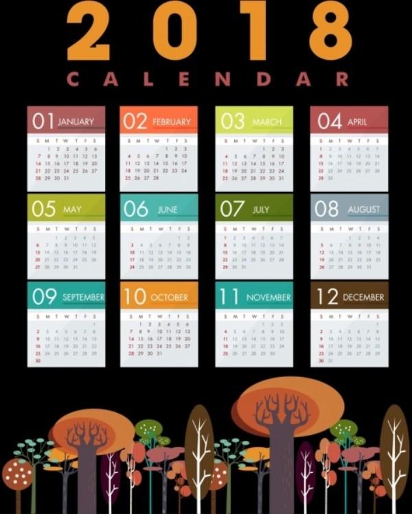 2018-printable-calendars-89 87+ Fascinating Printable Calendar Templates