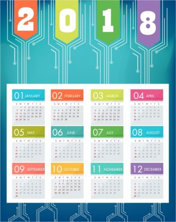 2018-printable-calendars-91 87+ Fascinating Printable Calendar Templates
