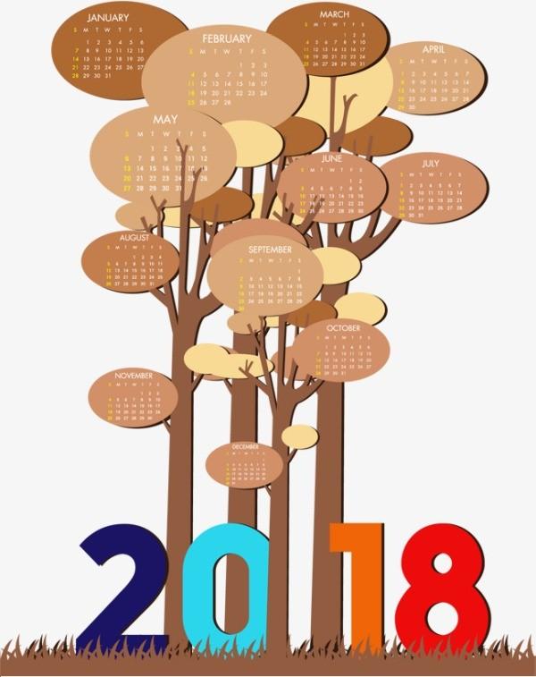 2018-printable-calendars-92 87+ Fascinating Printable Calendar Templates