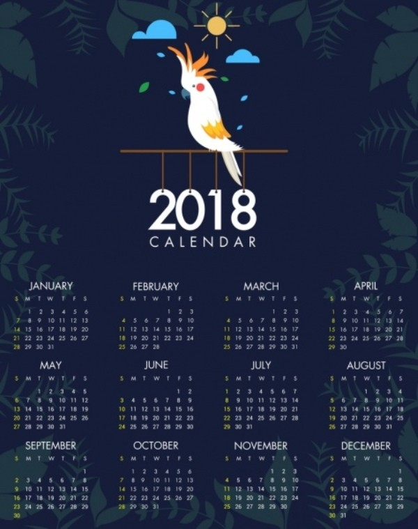 2018-printable-calendars-93 87+ Fascinating Printable Calendar Templates