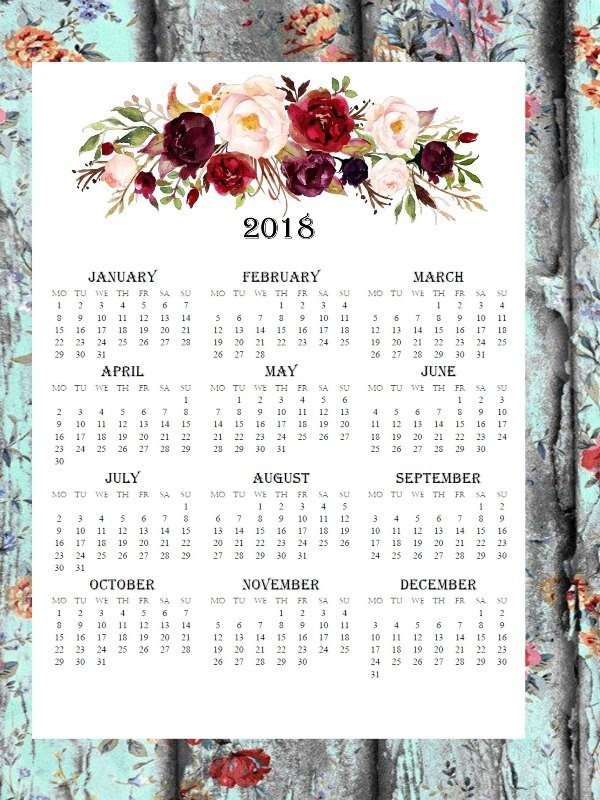 2018-printable-calendars-94 87+ Fascinating Printable Calendar Templates
