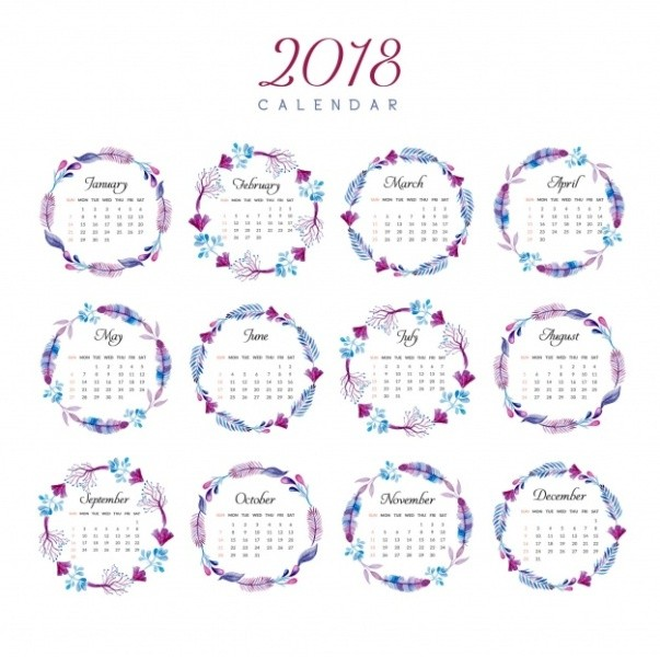 2018-printable-calendars-96 87+ Fascinating Printable Calendar Templates