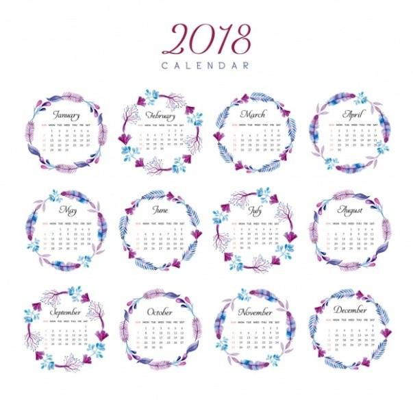 2018-printable-calendars-96 87+ Fascinating Printable Calendar Templates