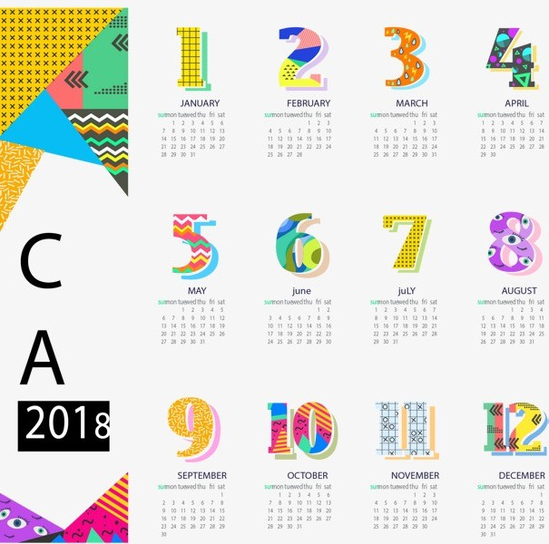 2018-printable-calendars-97 87+ Fascinating Printable Calendar Templates