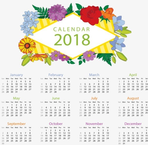 2018-printable-calendars-98 87+ Fascinating Printable Calendar Templates
