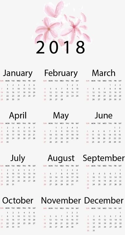 2018-printable-calendars 87+ Fascinating 2018 Printable Calendar Templates