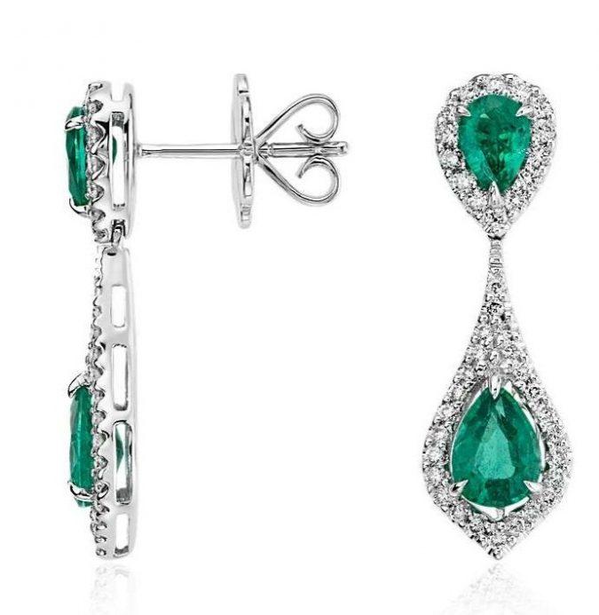 Dramatic-shapes-emerald-earrings-gemstone-earrings-1-675x693 Top 20 Newest Eyelashes Beauty Trends in 2019