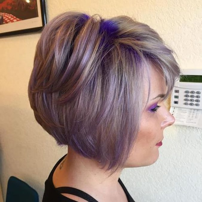 Grey-to-Purple-Ombre-bob-hairstyle-675x675 Best 2018 hairstyles for straight thin hair - Give it FLAIR!