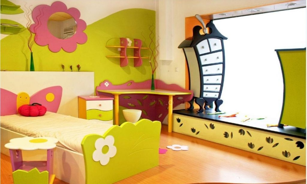 The-bedroom-furniture-and-accessories-1024x614 Top 10 Exclusive Tips to Decorate Your Kids Room