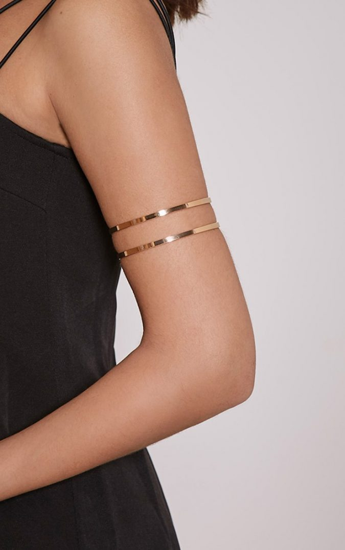 Upper-arm-bracelets-675x1076 Top 20 Newest Eyelashes Beauty Trends in 2019