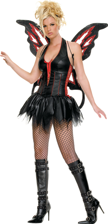Womens-Gothic-Fairy-Costume 86+ Funny & Scary Halloween Costumes for Teenagers 2020