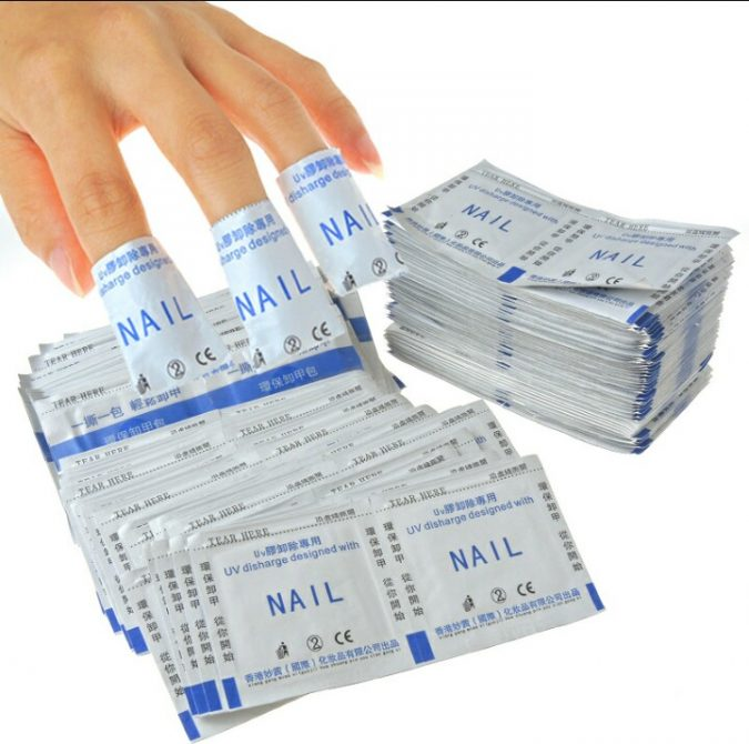 cotton-lined-nail-tapes-675x670 Most Efficient Ways to Remove Gel Manicure at Home!