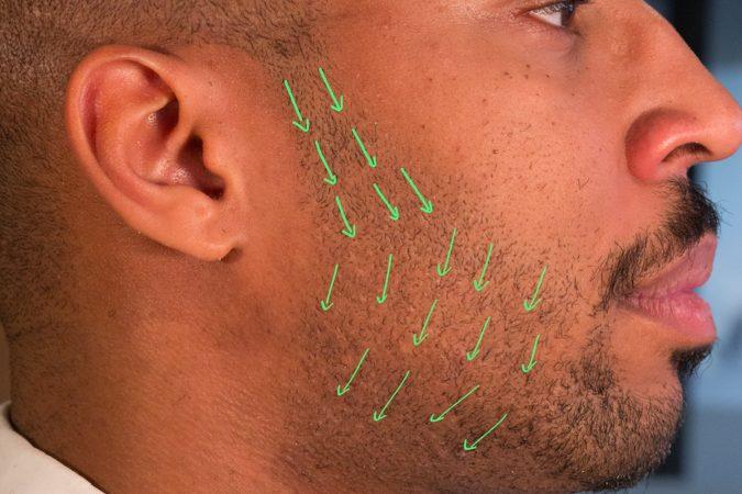 dirrection-of-beard-hair-growth-good-grain-675x450 how to Avoid and Soothe Adios razor burns!