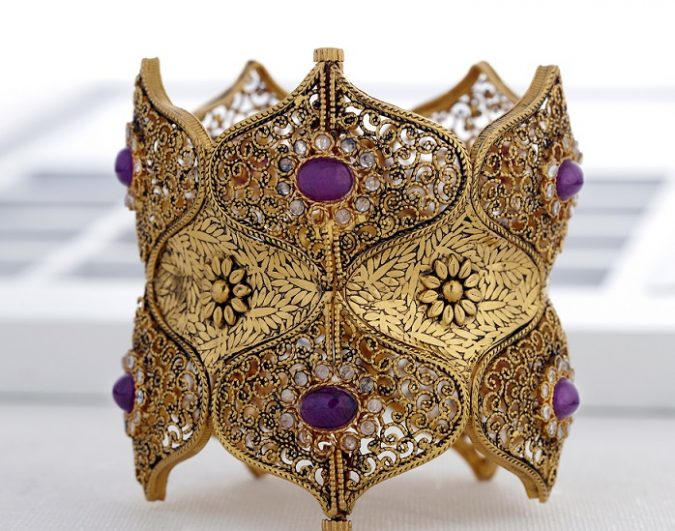 intricate-designs-bridal-cuffs-designer-gold-kalyan-jewellers-675x531 18 New Jewelry Trends for This Summer