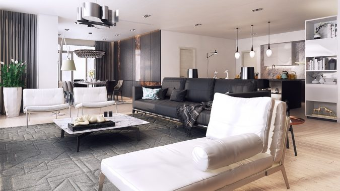 modern-black-and-white-colors-675x380 15+ Top Modern House Interior Designs for 2020