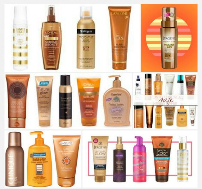 sunless-tanning-products-675x633 10 Safe Ways to Get Summertime Tanned Easily