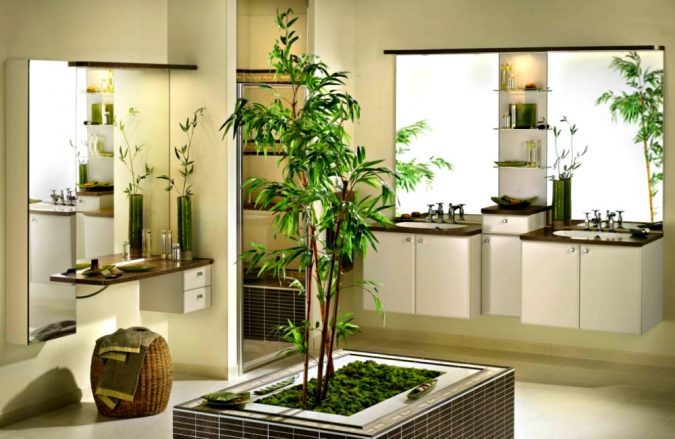Bamboo-Bathroom-675x439 Best 7 Solar System Project Ideas