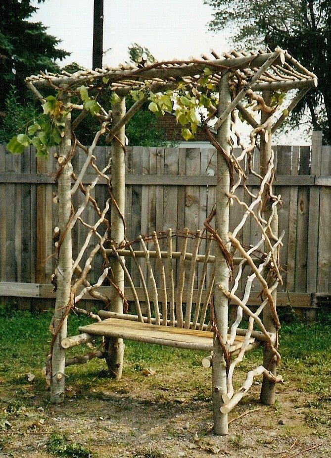 Branches-garden-benches 15 killer Garden Bench Decoration Ideas