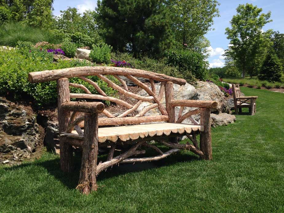 Branches-garden-benches2 15 killer Garden Bench Decoration Ideas
