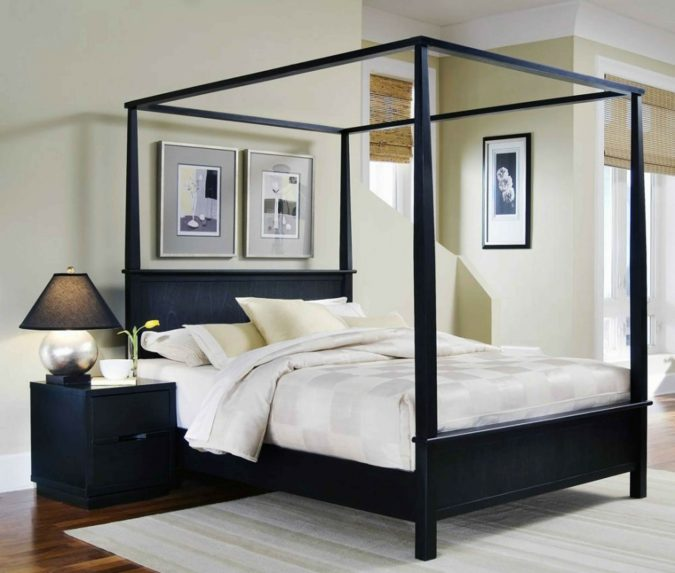 Canopy-bed-bedroom-interior-design-3-675x573 Canopy Beds through History... 35+ Bedroom Designs