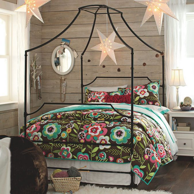 Canopy-beds-Modern-children-Bedroom-675x675 Canopy Beds through History... 35+ Bedroom Designs