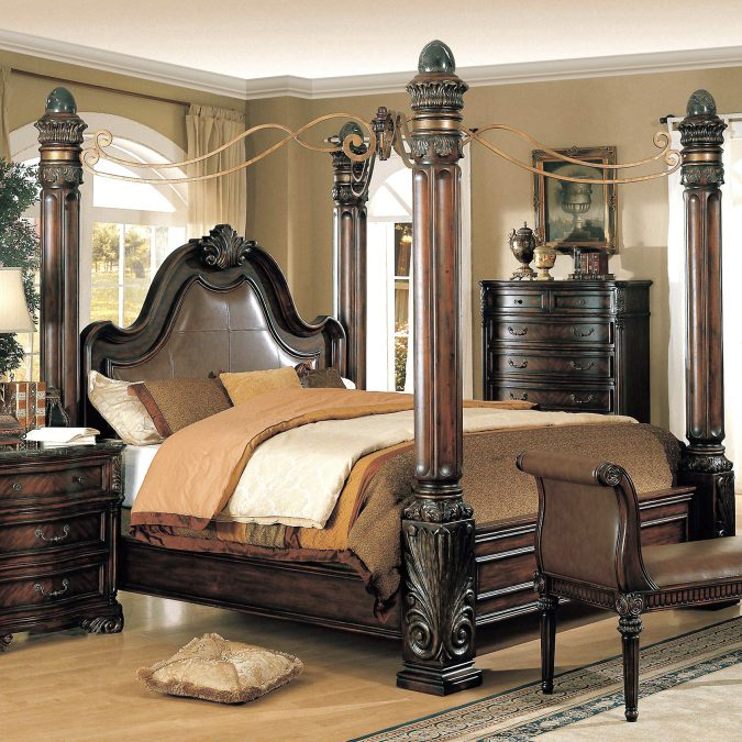 Classic-canopy-bed-bedroom-interior-design-675x675 Canopy Beds through History... 35+ Bedroom Designs