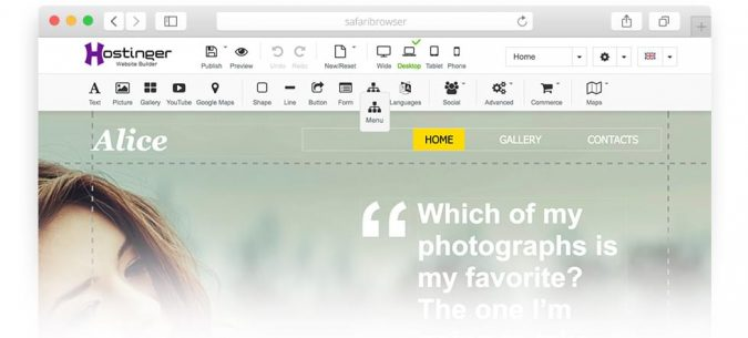 Hostinger-website-builder-screenshot-675x305 Hostinger Review [Pros & Cons]: Affordability Combined with Quality Services