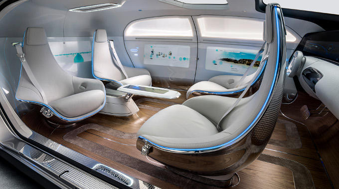 Mercedes-Benz-F-015-interiors Entering the Self-Driving Arena... Mercedes-Benz Looks Inward
