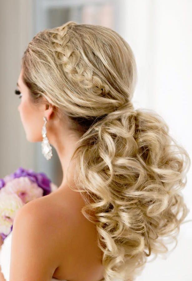 Pony-Tail-hairstyles1 12 Wedding Day Killer Hairstyles for Curly Hair