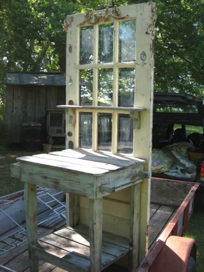 Reused-Garage-door-garden-benches2 15 killer Garden Bench Decoration Ideas