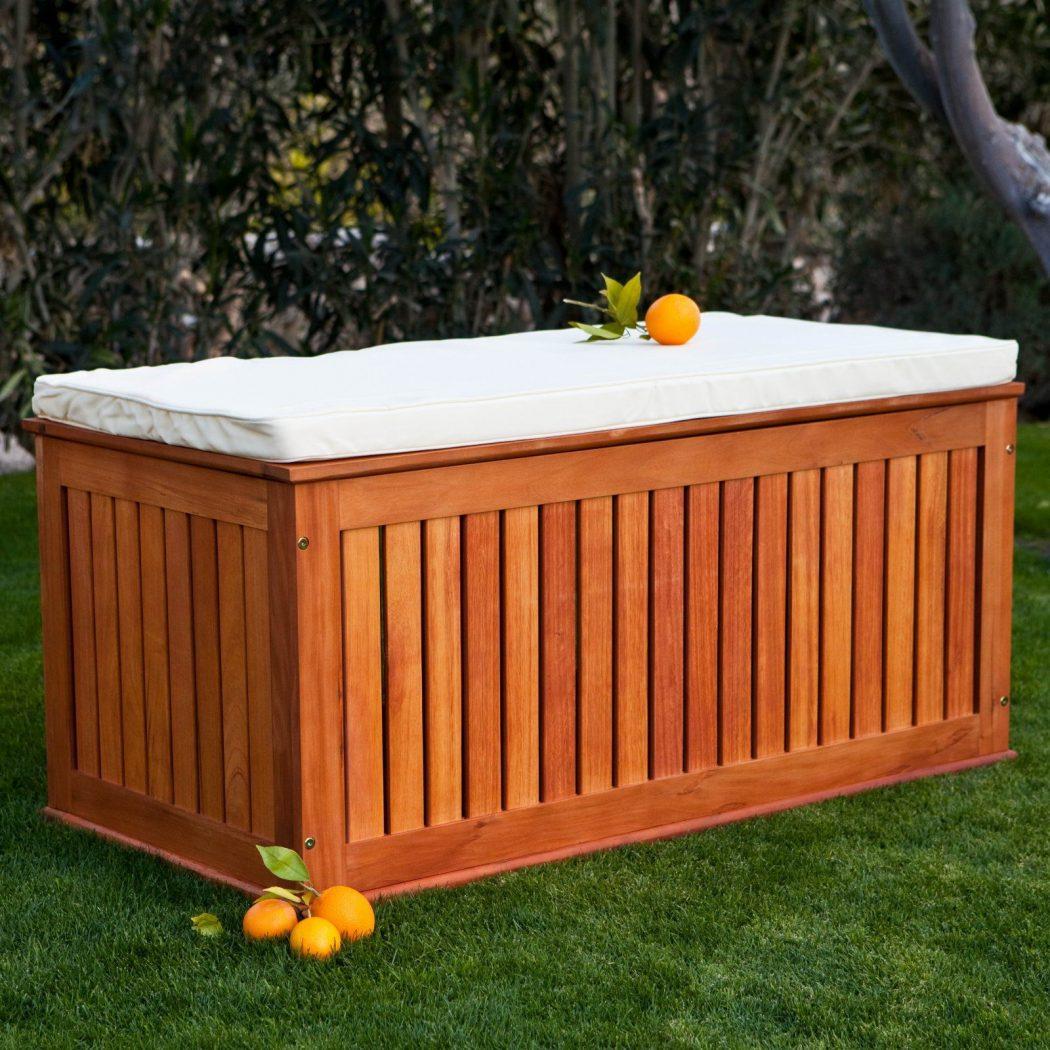 Storage-bench1 15 killer Garden Bench Decoration Ideas