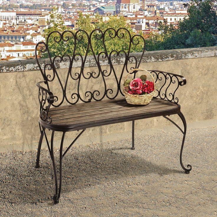 Sturdy-look-garden-benches1 15 killer Garden Bench Decoration Ideas